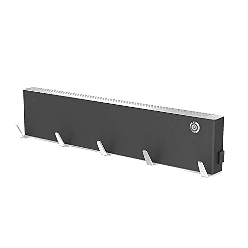 WGFGXQ Toallero calefactado Negro Control Inteligente de Temperatura Secado de baño Esterilización Toallero eléctrico Calentador Inteligente Calentador (Color: Negro)