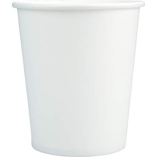 1000 Pappbecher Papierbecher Papptrinkbecher unbedruckte Trinkbecher aus Pappe (1.000 x 200 ml Becher) Uni (weiß) Plain White 200 ml