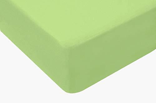 TM Maxx Jersey Spannbettlaken für Baby und Kinder mit Öko-Tex Standard (Limone 034, 80x160) Spannbetttuch aus 100% Baumwolle