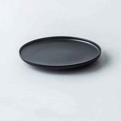 Juego de 3 platos de cena de porcelana azul para ensaladas, cereales y pastas, fiestas, cena de porcelana premium, refinar aspecto de China (negro, 26,4 x 3,2 cm)