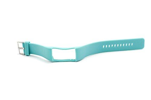 vhbw Ersatz Armband 24cm passend für Polar A360, A370 Fitness Uhr, Smart Watch - Silikon türkis