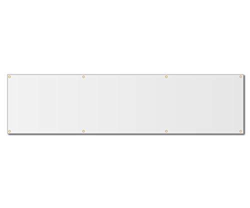 2'x10' Blank White Vinyl Banner - Grommets - 13oz