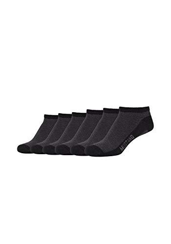 MUSTANG Damen Sneakersocken 6er-Pack aus hochwertiger Bio-Baumwolle black, 35-38