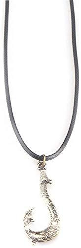 JIUJIN Moana Maui S Magical Fish Hook Pendant Ocean Romance Necklace Color-Gold