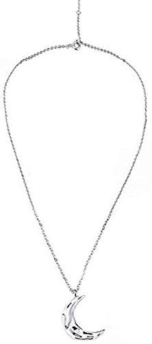 LKLFC Collar Mujer Collar Hombre Collar Luna Cadena Mujer Temperamento Corto Cadena de clavícula Regalo Niñas Niños Collar