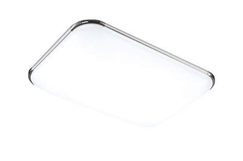 Natsen® 32W LED Deckenleuchte Deckenlampe Modern Beleuchtung Lampe für Wohnzimmer Küche Büro Warmweiß I503Y (650mm*430mm / Silber)