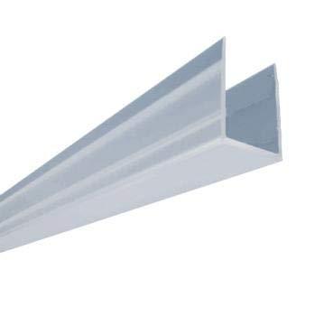 Glaszentrum Hagen - Bodendichtung für Duschekabinen/Duschwände - mit/ohne Lippen - PVC Transparent (ohne Lippe, 100cm)