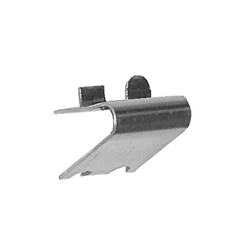 Pack 5 x Soportes Cremallera Con Tope en Acero Inoxidable AISI-304 (1 mm) · Soporte para Baldas dentro de Armarios Frigorificos o Vitrinas Refrigerada · Especial para Muebles Hostelería