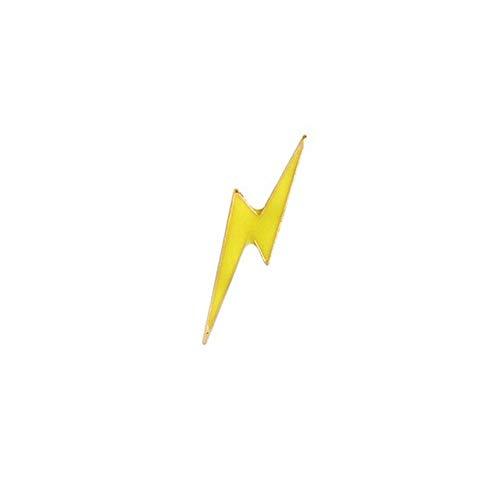 GDLGDL Pfeil Lightning Musik Notizen Würfel Topf Pflanze Flügel Glasierte Brosche Tragen Denim Kostüm Hut Shirt Herren Brosche Blitz