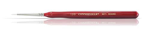 Connoisseur White Taklon Mini Detail Brush, #12/0 Round