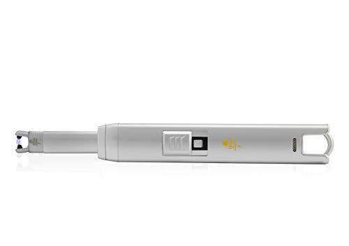 TESLA Lighter T07 Lichtbogen-Feuerzeug, elektronisches USB Stabfeuerzeug, Single-Arc Lighter, wiederaufladbar Silber