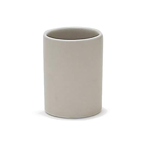 """WGV Ceramic Cylinder Vase Width 4"""" Height 6"""" Elegant Unique Modern Matte Floral Container Planter Pot Centerpiece for Event Party Wedding Office Home Decor, Smooth White 1 Piece"""