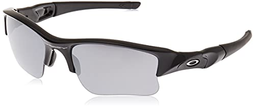 Oakley Men's OO9009 Flak Jacket XLJ Rectangular Sunglasses, Jet Black/Black Iridium, 63 mm