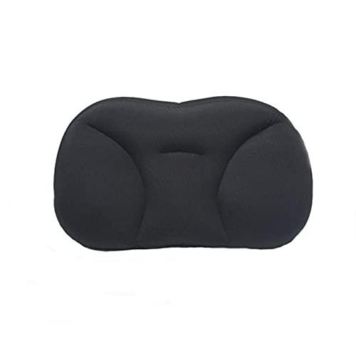 JONJUMP Almohada de viaje en forma de U para el cuello de la espuma de la memoria suave lento rebote espacio viaje almohada cervical salud ropa de cama almohada