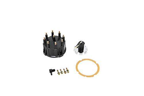 Replacement Distributor Cap Tune Up Kit - Compatible with Mercruiser GM V8 Engines with Thunderbolt IV, V HEI Ignition System - Replaces 187523, 805759Q3, 805759T3, 815407A2 - Rotor, Cap, Gasket