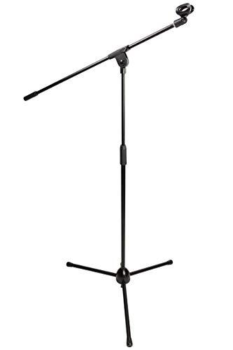 RockJam Boom Mikrofonständer mit schwarzem Mikrofon Clip