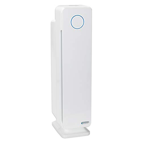 Germ Guardian True HEPA Filter Air Purifier with UV Light Sanitizer, Eliminates Germs, Filters Allergies, Pollen, Smoke, Dust, Pet Dander, Mold, Odors, Quiet 28in 4-in-1 Air Purifier for Home AC5350W