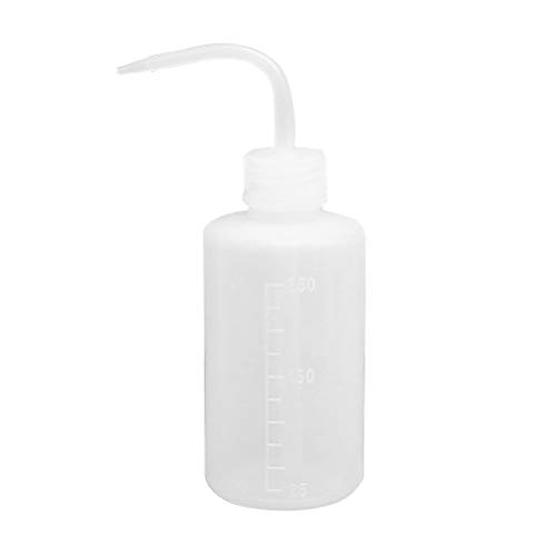 HEALIFTY - 250 ml Bottiglietta di plastica trasparente con beccuccio ad angolo, spremibile, dosatore per sapone e altri prodotti liquidi, strumento da giardinaggio