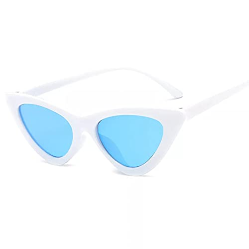 N/A Gafas de sol Vintage con forma de ojo de gato para mujer, gafas de sol pequeñas Retro con forma de ojo de gato, gafas coloridas para gafas de sol femeninas