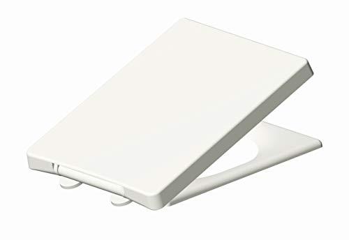 Grünblatt WC Sitz 515207 passend zu Keramag Preciosa II, Absenkautomatik und abnehmbar zur Reinigung, Hochwertiges Material Duroplast, weiß