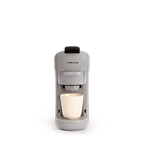 CREATE IKOHS Máquina de Café Espresso Italiano - Cafetera Multi Cápsulas Compatible Nespresso 3 en 1, 19 Bares con 2 Programas de Café, deposito extraíble, 0,6 L, 450 W (Gris stylance)