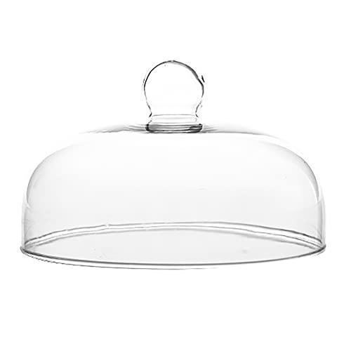 LIZIZYB Expositor para tartas, soporte de postre de cristal, bandeja giratoria de...