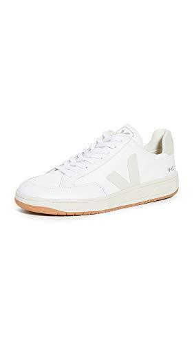 Veja Men's V-12 B Mesh Sneakers, White/Natural, 12 Medium US