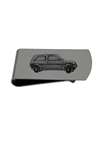 Clásico coche británico Metro ref134 diseño de efecto peltre en un soporte de clip negro
