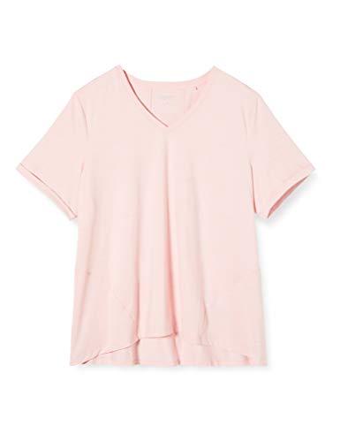 ESPRIT Sports Damen +Tshirt Edry ml Sporttop, Rosa (Light Pink 2 691), 36 (Herstellergröße: 50)