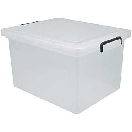 Clear IRIS USA Letter and Legal Size WEATHERTIGHT File Box