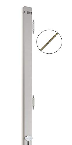 """File Cabinet Locking Bar with Drill Bit - Beige - 46"""" Long - for use on a 4 Drawer File Cabinet"""