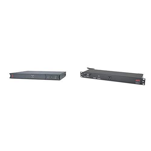 APC UPS 450VA Smart-UPS SC & NET9RMBLK Rackmount SurgeArrest...