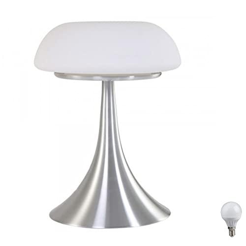 Steinhauer 5557ST Tischleuchte E14 Art Deco Pilzlampe Tischlampe Schnurschalter Sideboard Leselampe Lampe Fensterbank incl. LED Leuchtmittel