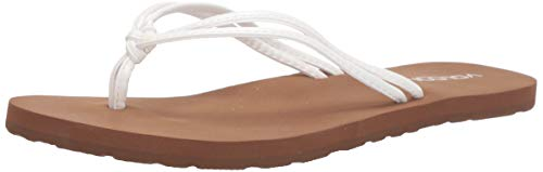 Volcom Women's Forever and Ever Flip Flop Sandal Water Shoe, White, 7