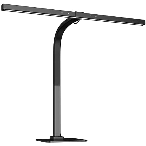 Led Desk Lamp, Eppiebasic Architect Bright Desk Lamp for Home Office, Dimmable & Adjustable Color Temperature Modern Drafting Work Light for Workbench, Studio, Monitor, Sewing, Extra Wide Area