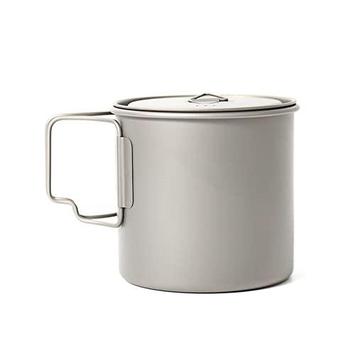 550ml Ultralight Titanium Pot al aire libre Camping Titanium Bowl Titanium Cup