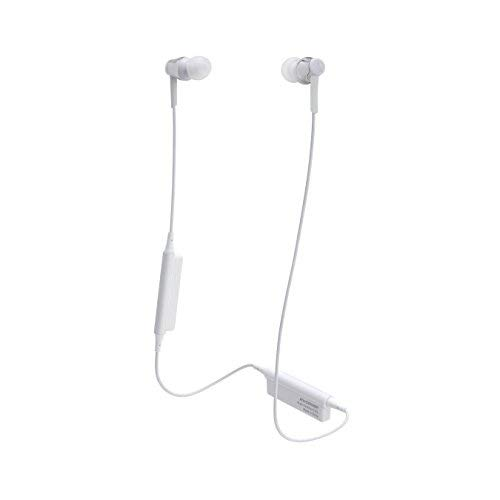 Audio-Technica ATH-CKR35BTSV Sound Reality Bluetooth Wireless In-Ear Headphones with In-Line Mic & Control, Silver