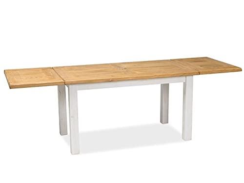 Stół POPRAD II rozkładany brąz miodowy/sosna patyna 80x140-240 Signal