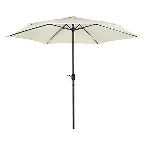 Aktive - Parasol hexagonal Garden diámetro 2,7 m - Mástil de aluminio 38 mm - Color vainilla (ColorBaby 53869)