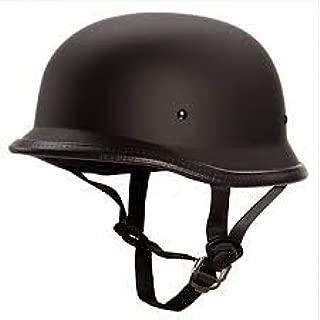 SARTE German Style Motorbike Helmet All Purpose Safety Helmet with Strap (Dull Black)