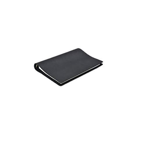 Xyhcs Cuaderno, Cuaderno Creativo Minimalista, Bloc de Notas de Cuero de Hojas Sueltas, Regalo - Diario Nota Diario y Plan / 48 Hojas (Color : Black)