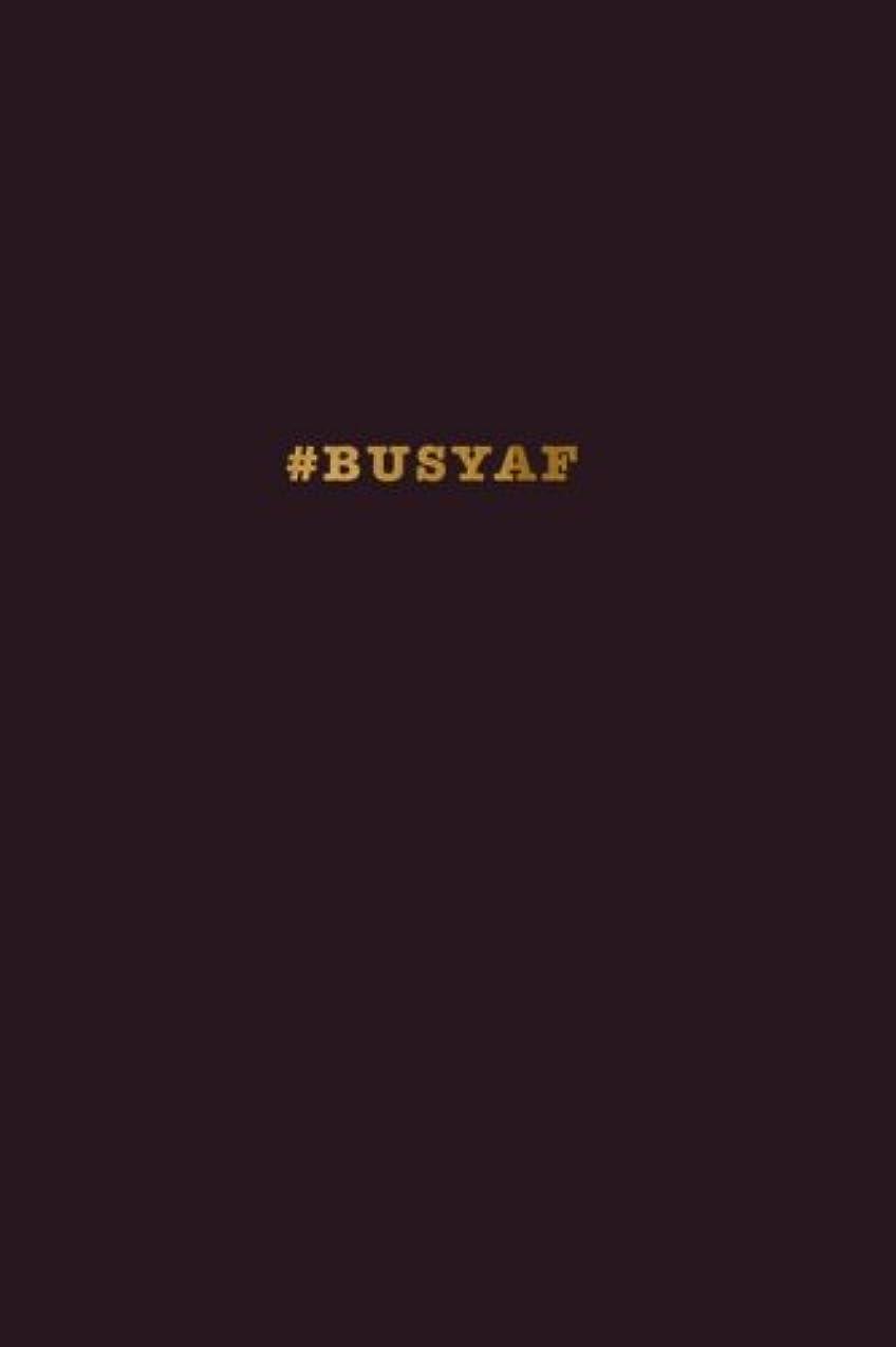 ネックレットホバー剥離#BUSYAF Notebook: Hashtag Funny Notebook Raisin Black 175-Page Wide-Ruled Journal (Hashtag Journals)