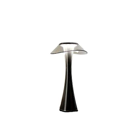 Lámpara de mesa Lámpara de mesa regulable Protección Ojos USB Carga inteligente Interruptor táctil lámpara de noche cristal transparente creativo lámpara de mesa