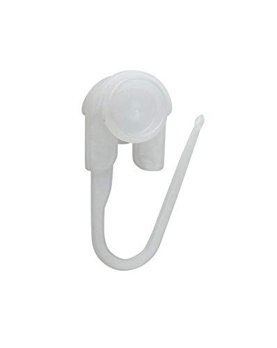 Faltenrollen, Gardinenrollen für Innenlaufschienen, Ø Rolle 9mm - geeignet für MHz-Schienen (100)