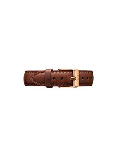 Daniel Wellington Petite St Mawes Cinturino Donna, 14mm, in Pelle, Marrone/Oro Rosato