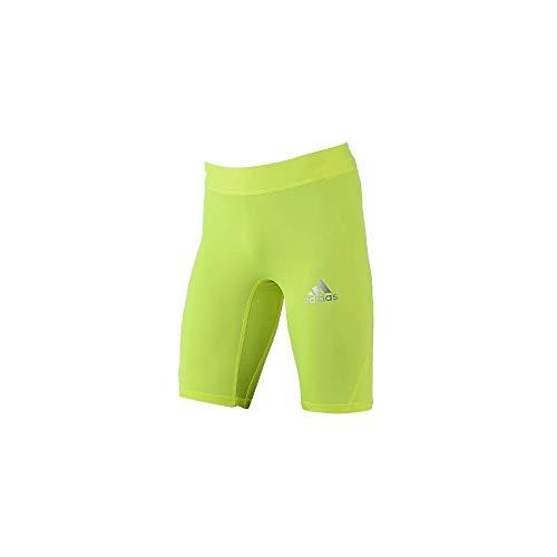 Adidas - Pantaloncini a compressione da uomo, colore: Giallo fluo giallo S