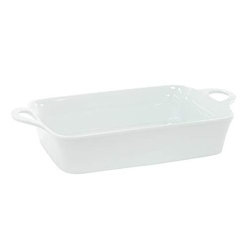 ProCook - Plat de Cuisson en Porcelaine Grand Blanc