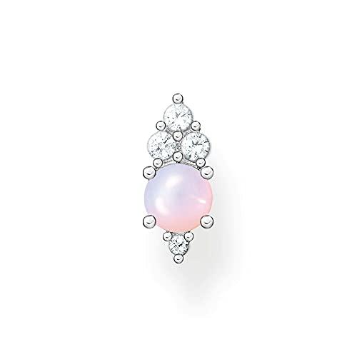 THOMAS SABO Damen Einzel Ohrstecker Vintage Opal-Imitation rosa schimmernd 925 Sterlingsilber H2181-166-7