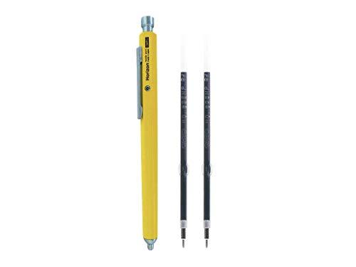 Ohto Needle-Point Horizon EU Pen Ballpoint Pen 0.7 mm (NBP-887H-YL) - Yellow Body with Two Extra Refills (No.897NP)