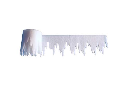 pemmiproducts Eiszapfen aus Schneevlies 500 x 9,5 cm, ca. 3mm dick, 2er Pack, Gesamtlänge: 10 m (EUR 1,29/m),schwer entflammbar DIN 4102 B1, Dekoschnee